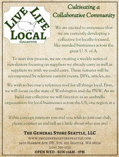 #Collective #Announcement! – The General Store #Seattle, LLC