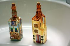 JOLA  BESSIE  DECOUPAGE ----------- bottle houses ------------------- butelkowe domki