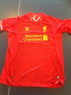 signed Liverpool home shirt 2013-14