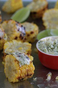 grilovaná kukurica s limetovým maslom