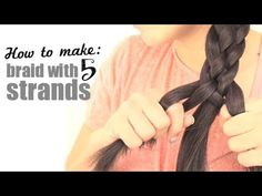 ▶ How to make a braid with 5 strands - YouTube Girl sounds aggervatin' but best video i've seen!