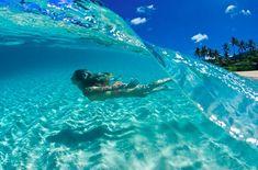 Hawaii Island, Hawaii.  It looks SO pretty, and it's SO clear!