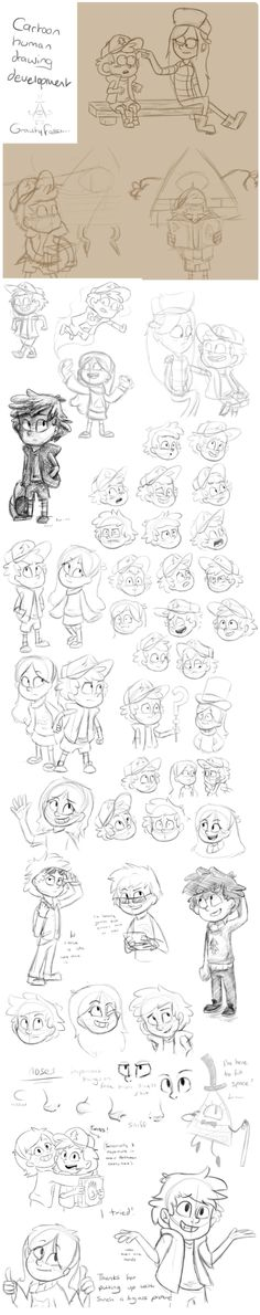 Sketchdump - Development of drawing cartoon people by Finchwing on DeviantArt