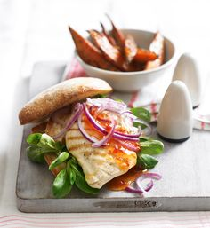 This chicken burger is healthier, quicker and cheaper than going out for a takeaway.