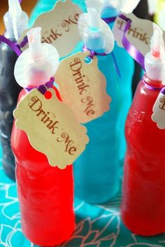 Alice in Wonderland  Mad Hatter Tea Party  Drink Me Tags by Swankk, $6.00