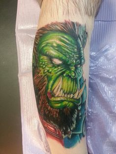 world of warcraft orc tattoo by Jeremiah Klein at Iron Lotus Tattoo Cedar Rapids