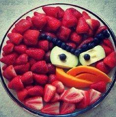 Angry birds fruit salad