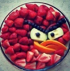 Angry birds fruit salad
