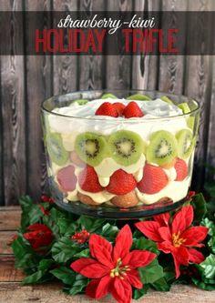 Strawberry Kiwi Holiday Trifle