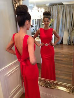 sexy backless red evening dress ,cheap long prom dresses