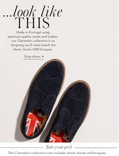 Boden. Men's shoes animation, the shoes are walking across the email banner. Gif design.