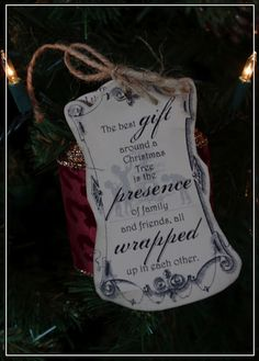 """Creative """"Try""""als: The Best Gift Around a Christmas Tree.... Quick Gift Idea"""