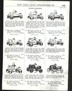 1925 Ad Gendron American Pedal Cars Juvenile Automobiles