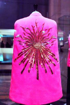 Elsa Schiaparelli's shocking-pink sunburst cape A/W 1938-1939