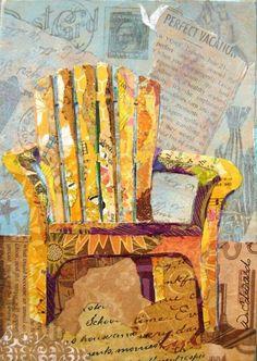 magazine page collage adirondack chair