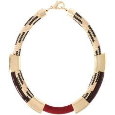 Orly Genger By Jaclyn Mayer Melora Necklace ($239) ❤ liked on Polyvore featuring jewelry, necklaces, accessories, collane, chunk jewelry, hand crafted jewelry, handcrafted jewelry, handcrafted necklaces and chunky necklace