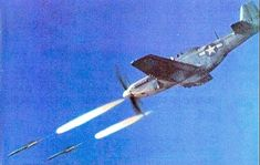 A Mustang launching unguided rockets. P51 Mustang, Rockets, Product Launch, American, Outdoor Decor, Lockets, Rocket Ships