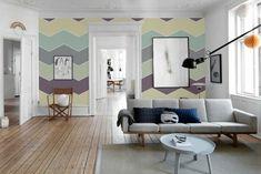 neutrale Wandfarben kombinieren und Chevron-Muster erstellen