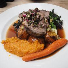 An organic Sunday roast dinner at The Duke of Cambridge pub in Islington, London
