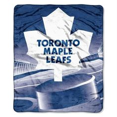 """Toronto Maple Leafs Fleece Blanket Throw 50 x 60 by Northwest. $24.95. Toronto Maple Leafs fleece blanket. NHL Hockey 50"""" x 60"""" micro raschel throw blanket. Machine washable and dry-able. Keep warm and cozy with this throw blanket. Trimmed with high-quality serged edges and made of soft polyester for superior durability. The officially licensed throw is brightly decorated in team colors and designed with highly detailed printed team graphics. Great for a road trip, ..."""