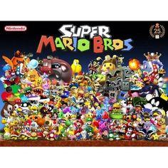 Super Mario Fabric Poster