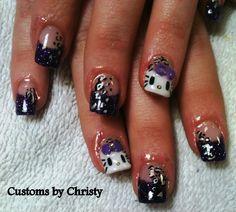 hello kitty nails Hello Kitty Nails, Cat Nails, Nail Art, Board, Hair, Beauty, Nail Arts, Beauty Illustration, Nail Art Designs