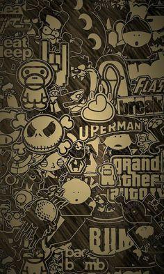 Sticker Bomb Wallpaper, Graffiti Wallpaper Iphone, Crazy Wallpaper, Game Wallpaper Iphone, Pop Art Wallpaper, Glitch Wallpaper, Halloween Wallpaper Iphone, Apple Wallpaper, Cellphone Wallpaper