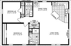 The Imperial, IMP-2443A - Manufactured Home Floor Plan | Jacobsen Homes