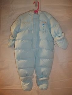 The Children's Place Baby Boy's Snowsuit Hooded Mittens Booties Size 3-6 Mos #TheChildrensPlace #Snowsuit
