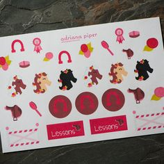 Horse Collection Stickers  for Erin Condren Life Planner, Plum Paper Planner, Filofax, Kikki K, Calendar or Scrapbook by adrianapiper on Etsy