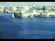 Entering the Inner Habour of Victoria in the late 1950s in the summer, you can see the Kalakala in the clip
