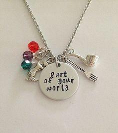 Disney inspired Little Mermaid necklace part by BellaRayneDesigns