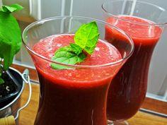 Orzeźwiające smoothie malinowo-kokosowe/ Refreshing raspberry-coconut smoothie | Gosia's Food 'n' Lifestyle