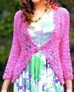 tejidos artesanales en crochet: saco tejido en crochet muy especial (talle 46)