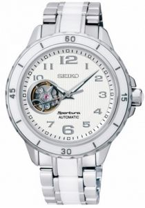 SSA885J1 SEIKO Sportura Open Heart Ladies Watch