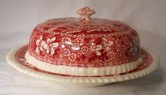 Spode China Tower Pink Older Backstamp Round Covered Butter Dish Lid RARE | eBay