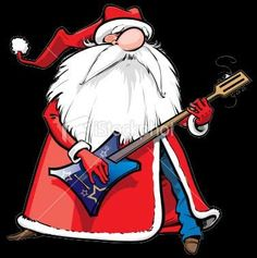 TOUCH this image: DearSanta: Dear Santa I want to be a rock star by ThingLink Music Christmas World, Christmas Rock, Christmas Cards, Christmas Stuff, Merry Christmas, Comic Cat, Santa Cake, Guitar Gifts, Free Christmas Printables