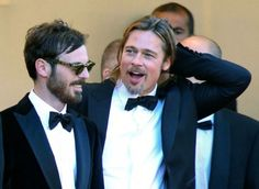 CANNES, FRANCE - MAY 22: (L-R) Actors Scoot McNairy and Brad Pitt attend the 'Killing Them Softly' Premiere during the 65th Annual Cannes Film Festival at Palais des Festivals on May 22, 2012 in Cannes, France.