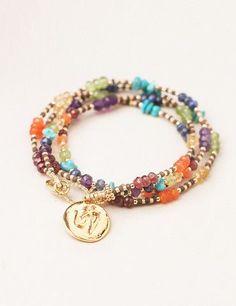 Tibetan OM Chakra Wrap Bracelet