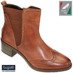 Bugatti női bőr bokacsizma 411-56234-4100-6300 antikolt konyak