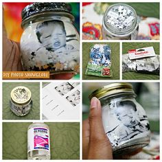 DIY Photo Snowglobe - Use Adoramapix prints to make a snow globe for a great Mother's Day gift