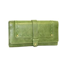 Women's Nino Bossi My Life Wallet - Avocado Wallets ($60) ❤ liked on Polyvore featuring bags, wallets, green, leather accordion wallet, leather flap wallet, genuine leather wallet, genuine leather credit card holder wallet and green leather wallet