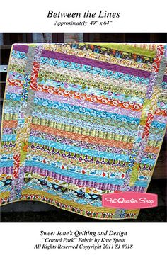 Between the Lines quilt using 1 jelly roll finished size 49x64