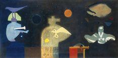 Bálint Endre: Allegro Barbaro, 1972 (Forrás: Virág Judit Galéria) Surrealism, Marvel, Painting, Artists, Painting Art, Paintings, Painted Canvas, Drawings, Artist