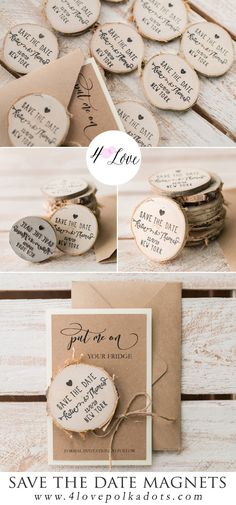 Getting married? The planning is underway? It's a perfect time to send your Save the Dates! A Save the Date should be sent out about six months in advance, or even eight for a destination weddings. Impress your guests with a lovely reminder - personalized card with wooden stamped magnet. Unique and...perfect for a budget savvy bride! #wedding #handmade