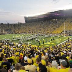 There is nothing like watching the Michigan #Marching #Band take the field!