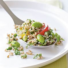 Heart-Healthy Vegetarian Recipes   Bulgur Salad with Edamame and Cherry Tomatoes   CookingLight.com