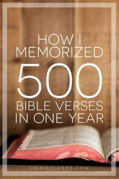 How I Memorized 500 Bible Verses in One Year http://seedtime.com/memorize-bible-verses/