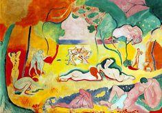 Henri Matisse, GIOIA DI VIVERE, Colore ad olio, 1905–1906, Barnes Foundation