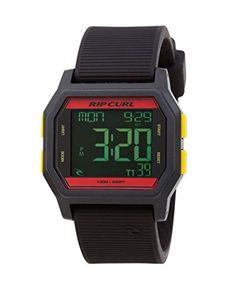 2016 Rip Curl Atom Digital Watch With Silicone Strap RASTA A2701 - http://uhr.haus/rip-curl/rip-curl-atom-digital-watch-rasta